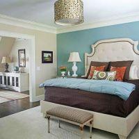 accent wall - aqua, bedroom | Accent Walls - Blues | Pinterest
