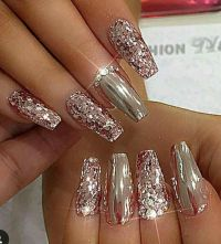 25+ best ideas about Sparkle nail designs on Pinterest