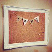 DIY cork board - empty frame, foam board and a roll of ...
