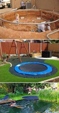 17 Best ideas about Sunken Trampoline on Pinterest
