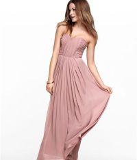 H&M Dusky Pink Rose Corset Chiffon Maxi Long Prom ...