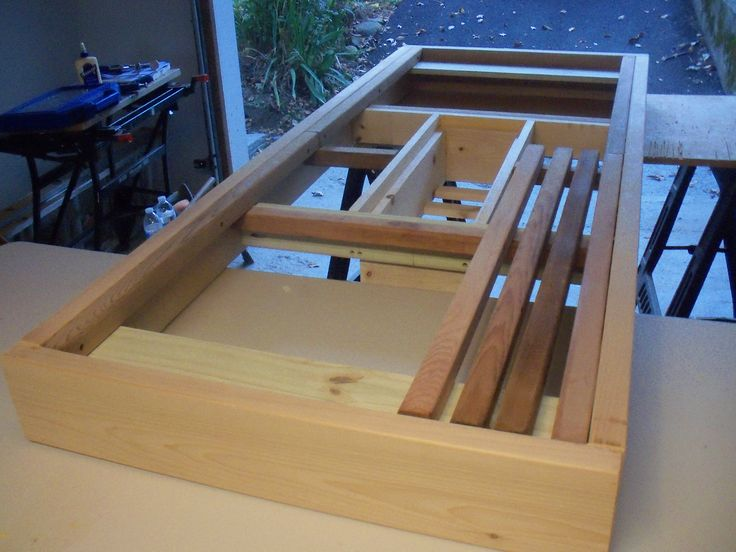 Table Apron With Before Attaching 2x2 Cedar Slats Diy