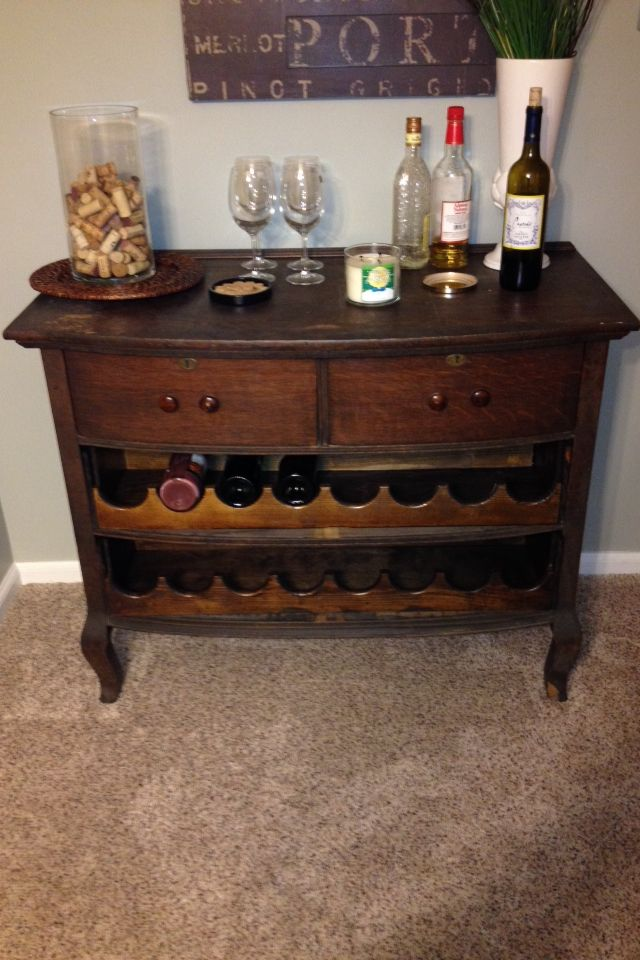 Dresser Kitchen Island Diy Antique Dresser Turned Into A Wine Bar Without Compromise