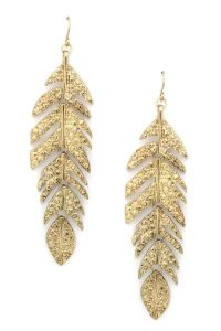 Feather My Ear Earrings | glitter & gold | Pinterest ...