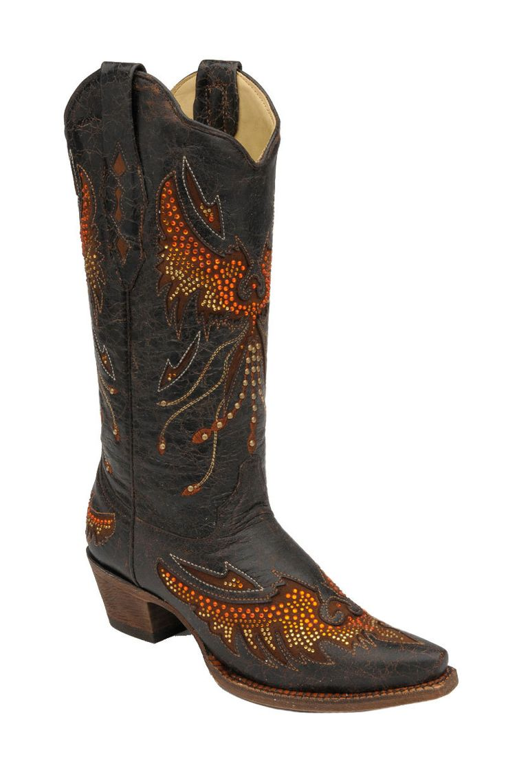 Corral Women39s Eagle Crystal Embellished Cowgirl Boots