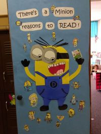 Minion classroom door | Library Display Ideas | Pinterest ...