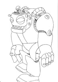 Plants Vs Zombies Coloring Pages Robots Coloring Pages