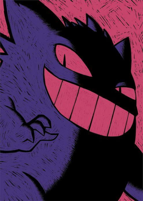 Cute Cartoon Face Wallpapers Artbygrim Still Pumpin Out Prints I Love My Big Fat Gengar