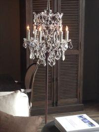 Chandelier floor lamp | DYI Home | Pinterest | Beautiful ...