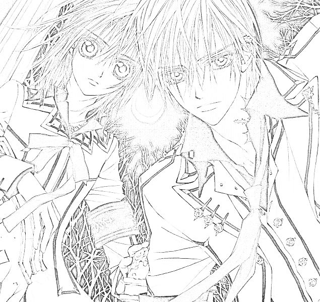 Diabolik Lovers Wallpaper Fall Vampire Knight Coloring Pages Coloring Pinterest