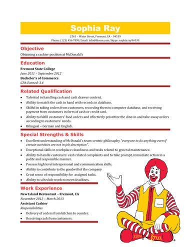 resume fast food job resume bank cashier resume sample cashier