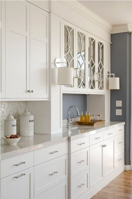 White Shaker Doors For Kitchen Cabinets With Oak Trim 25+ Best Ideas About Glass Cabinet Doors On Pinterest