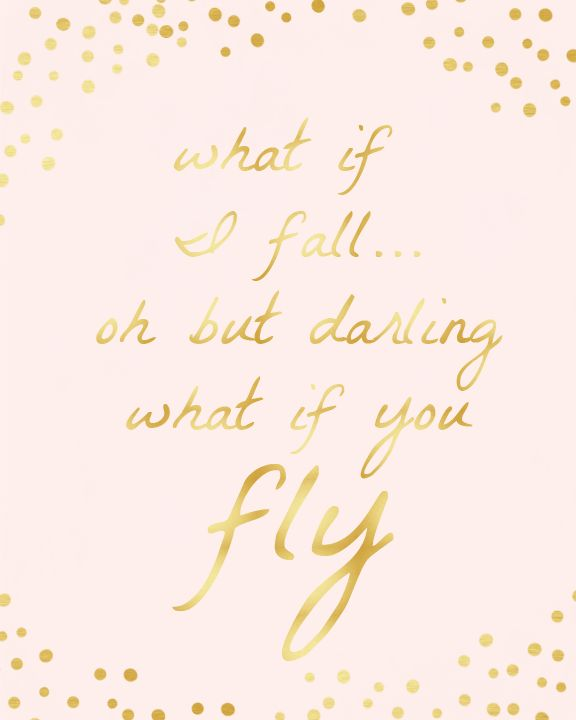 Before I Fall Quotes Iphone Wallpaper What If I Fall Oh But Darling What If You Fly Gold Amp Pink