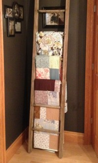 Quilt Racks Ladder Style - WoodWorking Projects & Plans