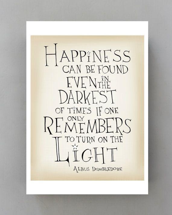 Harry Potter quote print