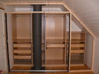 sloped ceiling closet Ikea hack | Ideas: attic bedroom ...