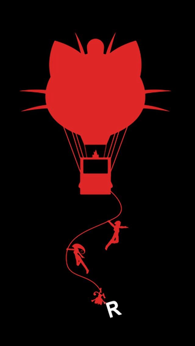 Cute Pikachu Iphone 5 Wallpaper Team Rocket Silhouette Check Out More Minimal Style
