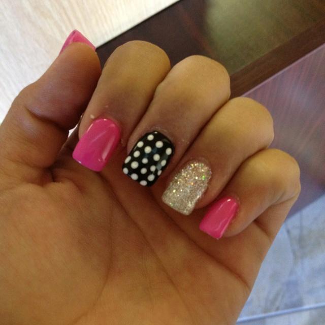 Cute girly nails!