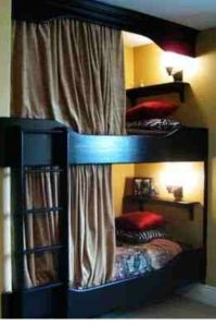 Bunk beds - Curtains for privacy | Camper | Pinterest ...