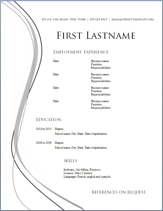 Download Resume Templates Free Call Centre Manager Resume - download resume template word