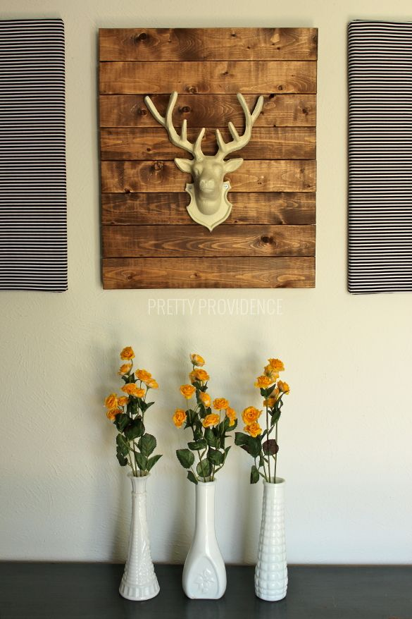 Ikea Lack Ideas Diy Rustic Modern Art - Faux Stag Head | Cas, On The Side