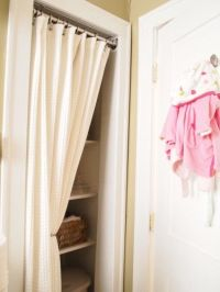 25+ best ideas about Closet door curtains on Pinterest ...