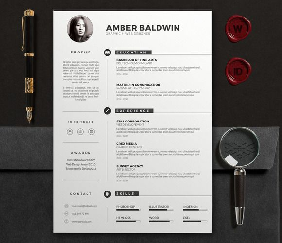 Orienta Free Professional Resume Cv Template 34 Best Images About Clean Resume Designs On Pinterest