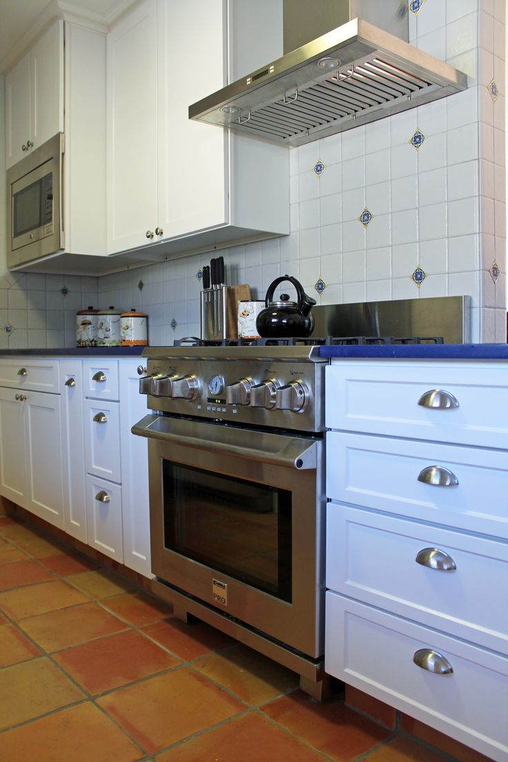 our remodeling work kitchen cabinets in spanish Spanish modern kitchen design White cabinets saltillo floor tile
