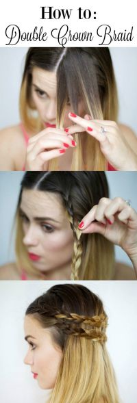 17 Best ideas about Crown Braids on Pinterest