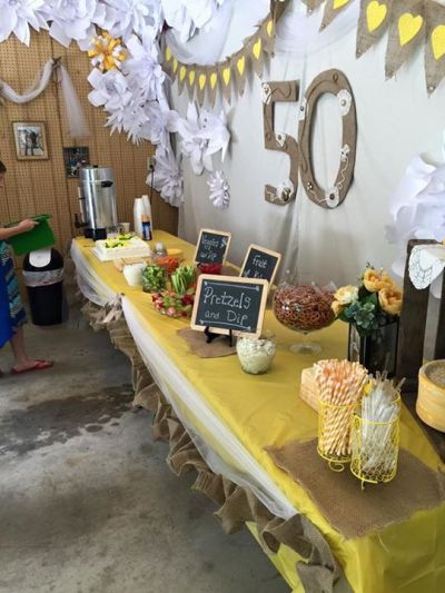 50th anniversary food table   50'th Anniversary Open House ...