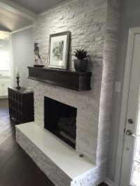 Best 25+ White stone fireplaces ideas on Pinterest