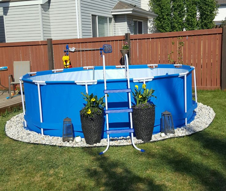 Zwembad Intex Ultra Frame Pool Above Ground Pool Landscaping. Backyard Living. Summer