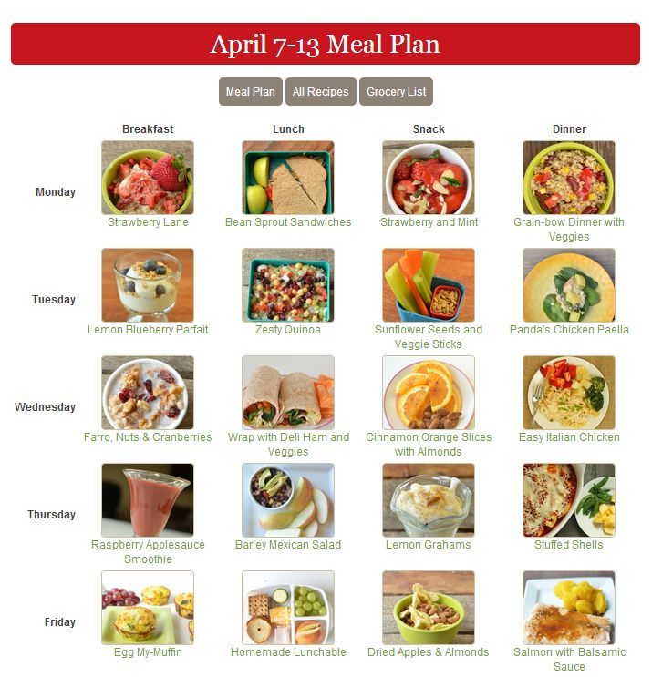 17 best images about Meal Planning on Pinterest Kid, Healthy - healthy meal plan