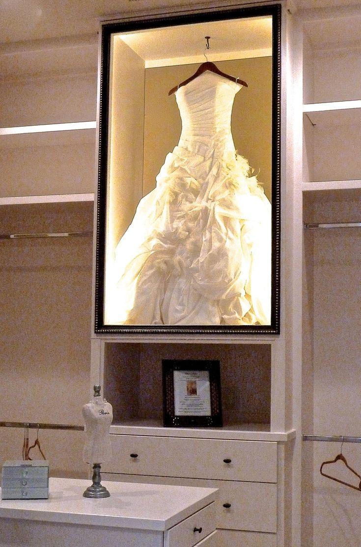 wedding dress display preserving wedding dress Not Your Grandmother s Closet Wedding Dress