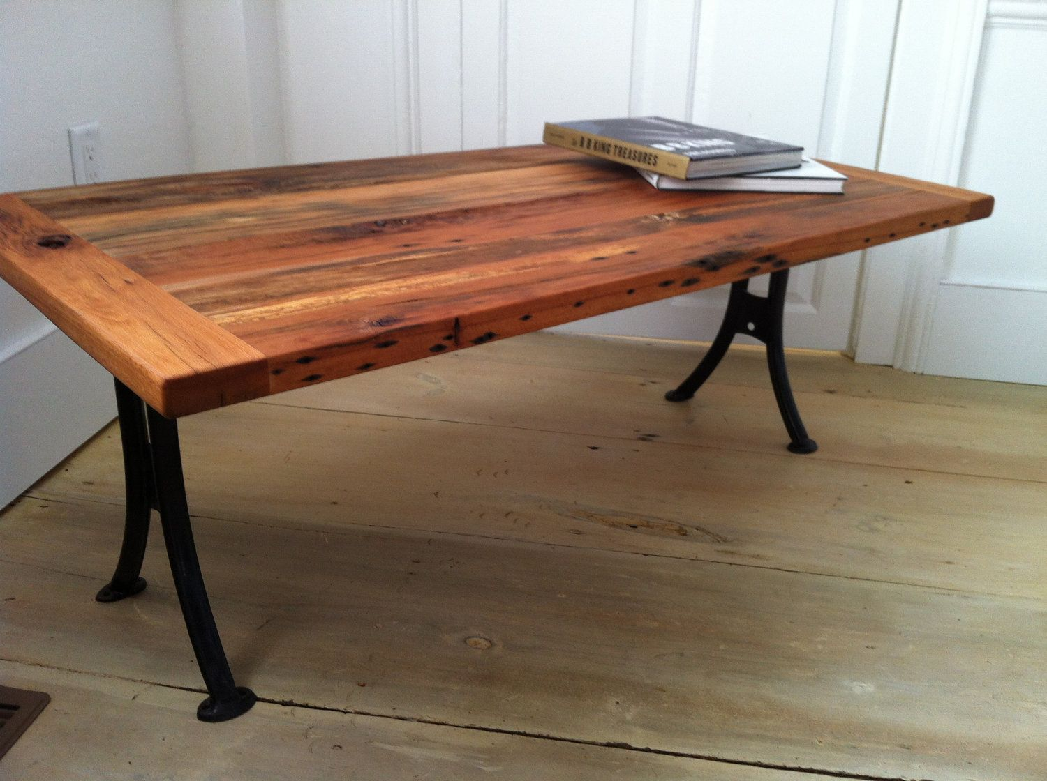 Metal Leg Desk Reclaimed Barnwood Coffee Table With Quotantique School Desk