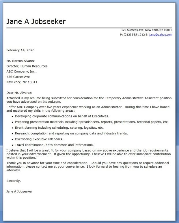 basic administrative assistant cover letter administrative - cover letter samples for administrative assistant