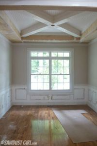 tray ceiling with x beams | Molding ideas | Pinterest ...