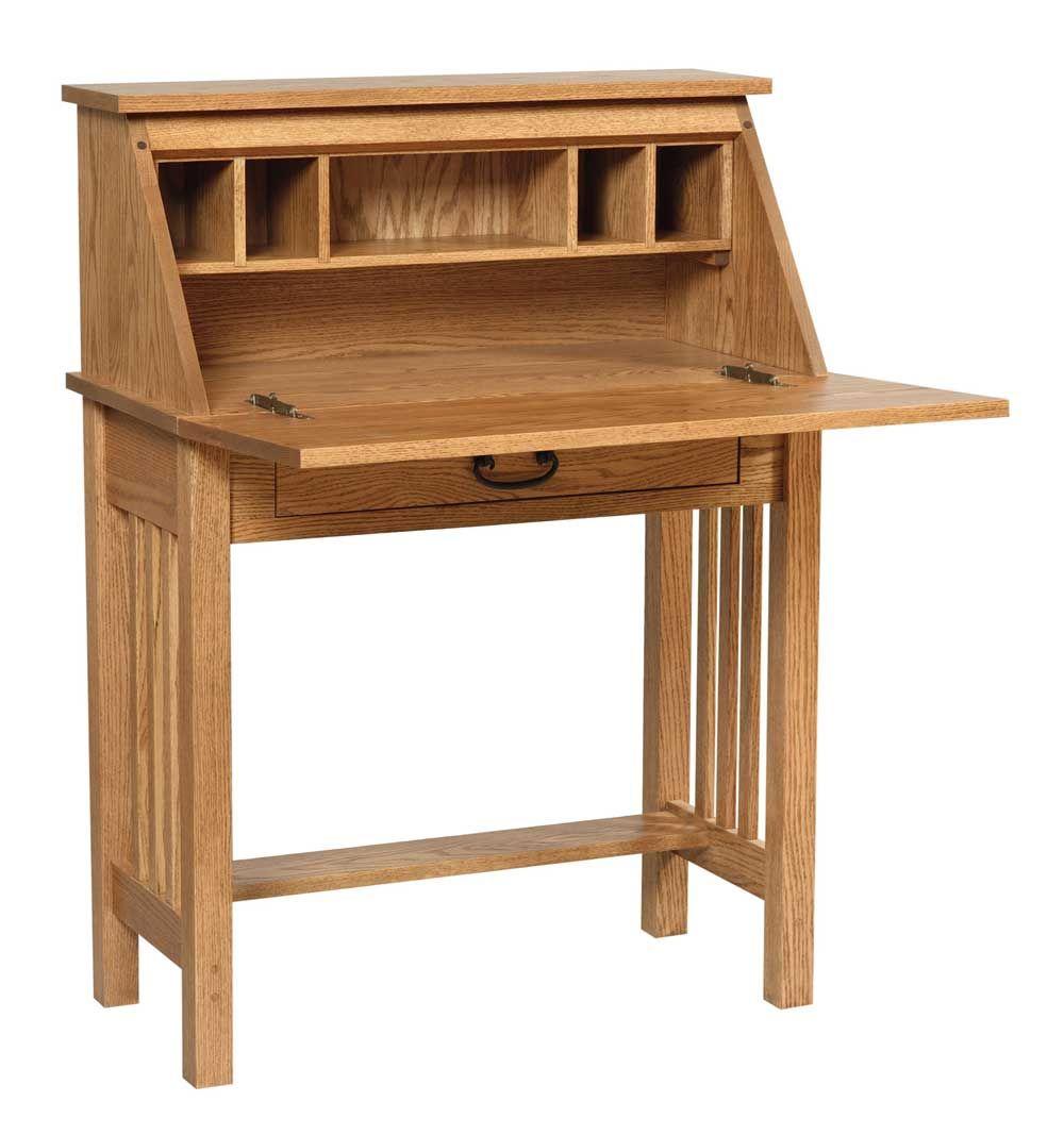 Mission home office wood secretary desk