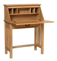 Mission Home Office Wood Secretary Desk | woodworking ...