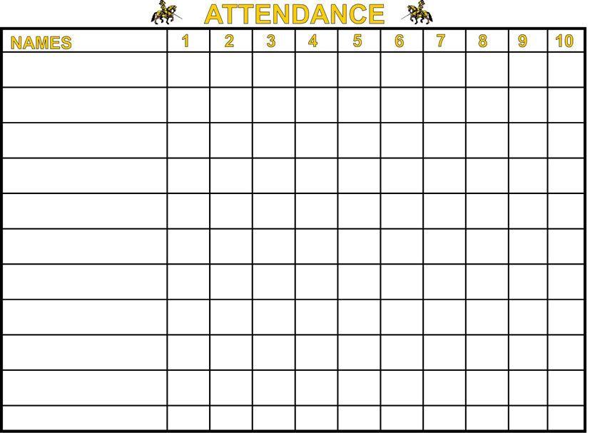 School Attendance Template - Template Examples - attendance chart template