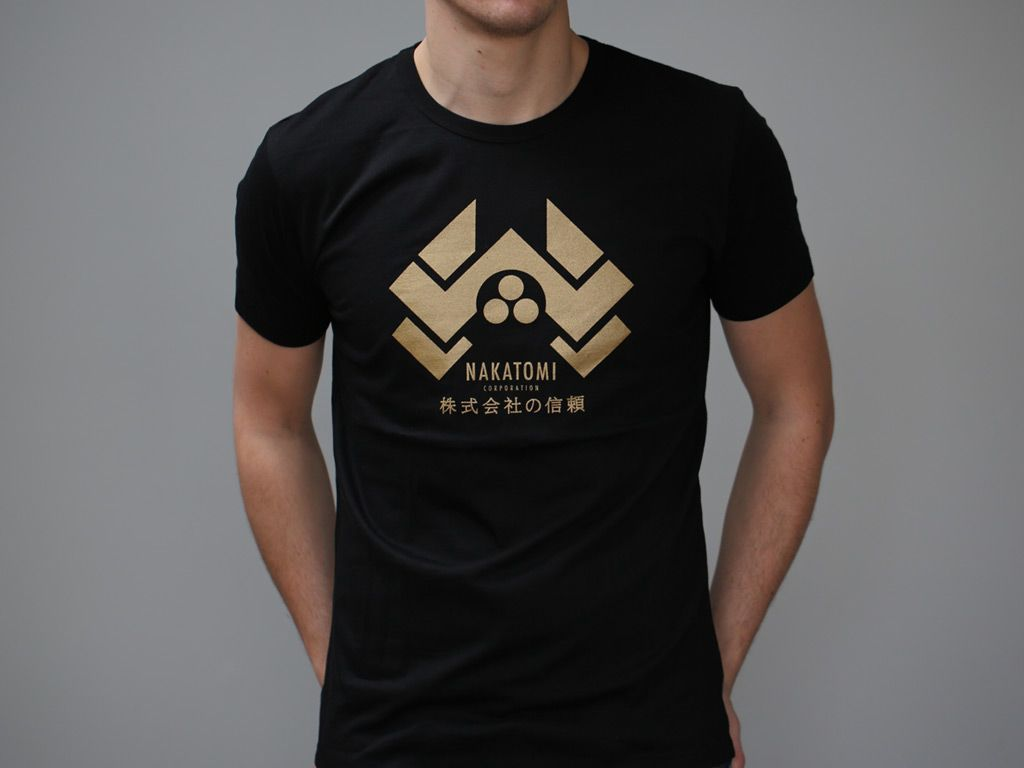 Black t shirt gold print - Black T Shirt Print A Gold Design Hand Screen Printed On A Fitted 100 Brushed Download