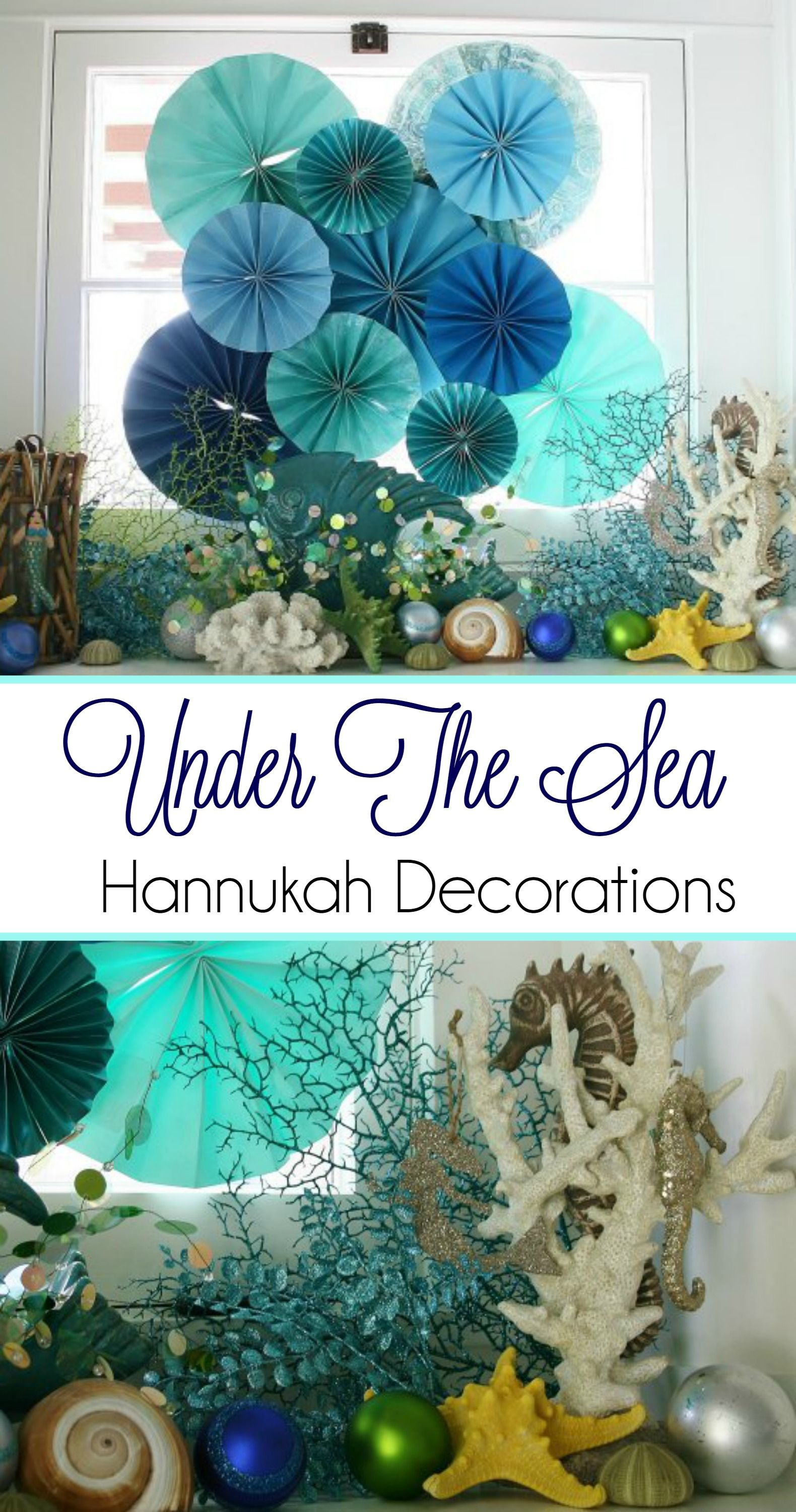 Ocean Theme Decorating Ideas Be Inspired By This Quotunder The Sea Quot Themed Hanukkah So