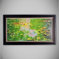 'Water Lilies' by Claude Monet Framed Painting Print ...