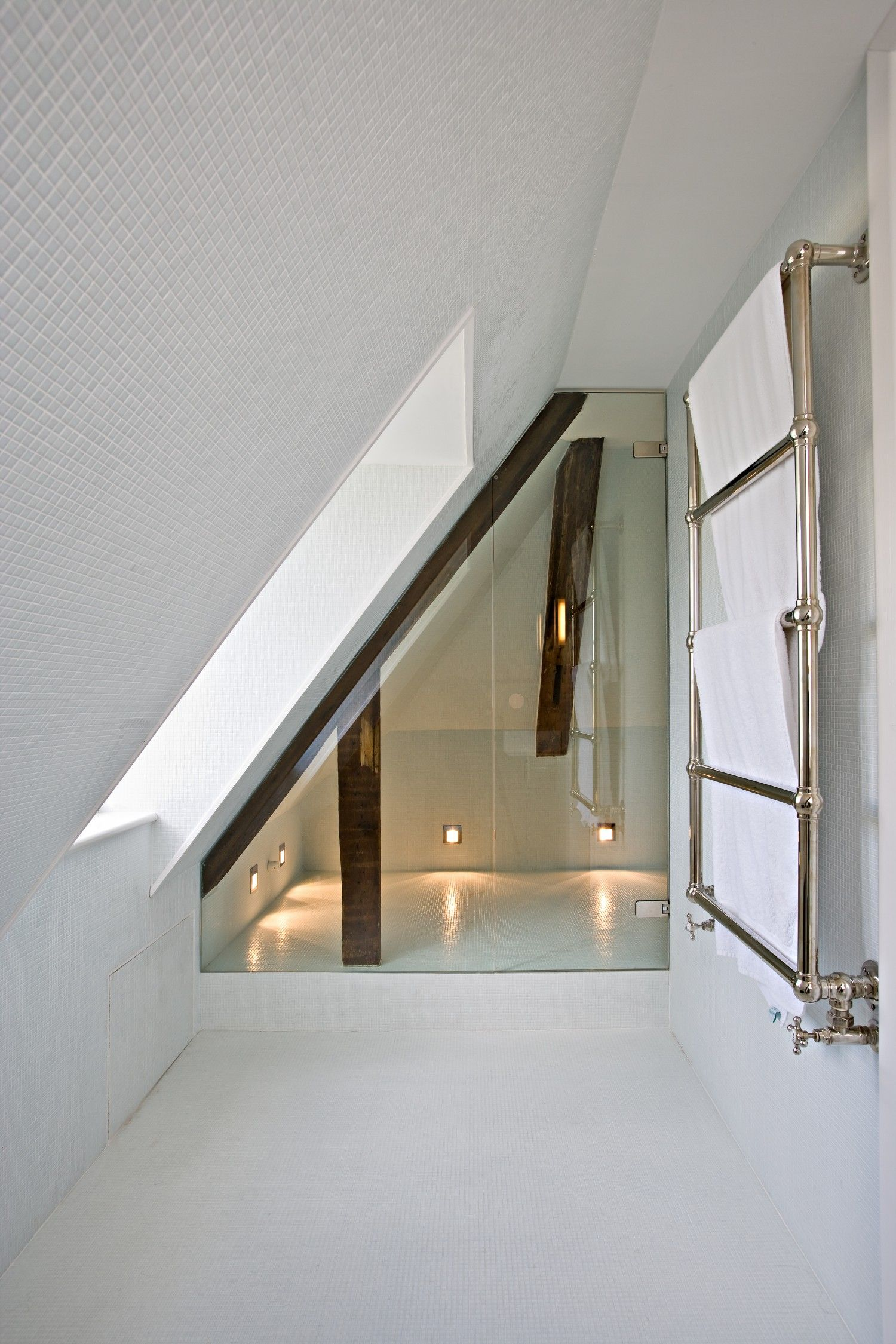 Win Badkamer Glass Shower Sceen Slanted For Attic Ceiling Amazing
