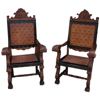 Antique Furniture Spanish Antique Chairs Carved Throne ...