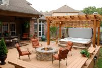 Outdoor , Nice Backyard Deck Ideas with Hot Tubs : Cozy ...