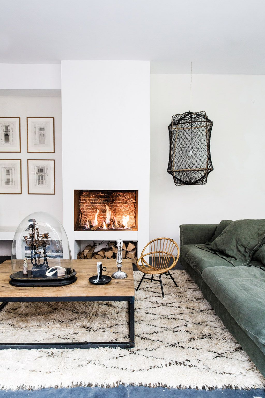 Tapis Salon Style Industriel | Salon Style Industriel Moderne