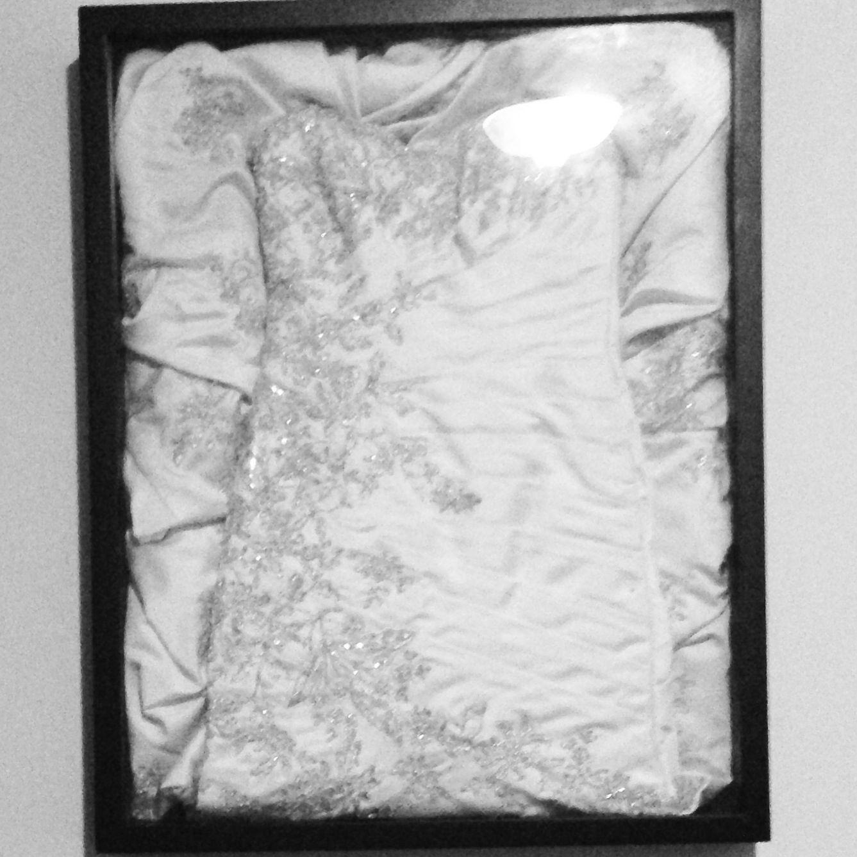 preserving wedding dress Wedding dress framed Preserving your wedding dress