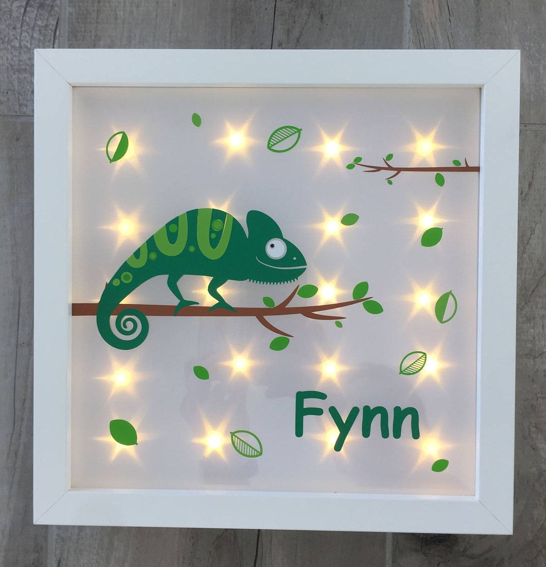 Beleuchtete Bilderrahmen Illuminated Picture Frame With Chameleon And Night Light