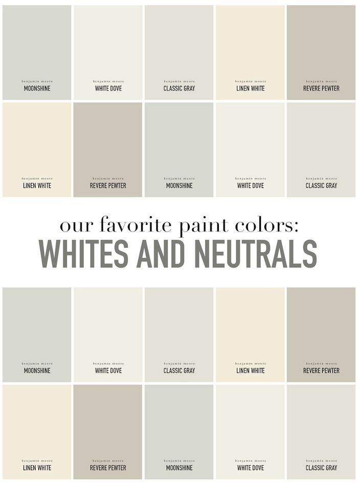 Summerhouse Designers' Favorite White And Neutral Paint Colors